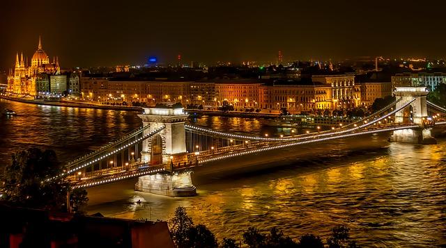 Цепной мост, или мост Сеченьи, Будапешт, Венгрия